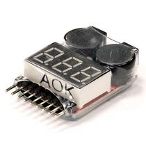 Testador Monitor Baterias Lipo 1s-8s Com Alarme Bip Buzzer