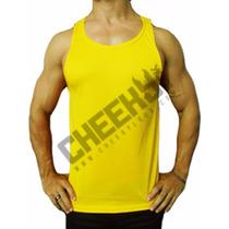 Franelilla Unicolor Gym Fluorescente Para Hombre