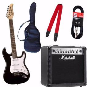 Combo Guitarra Silvertone Marshall Mg15 Cfx Con Efecto Y Acc