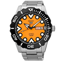 Relógio Seiko 5 Sports Laranja Automático 100m 24 Jew+frete