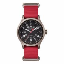 Reloj Timex Tw4b04500 Expedition Scout Rojo/grs Envío Gratis