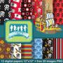 Kit Imprimible Pack Fondos Jake El Pirata Clipart