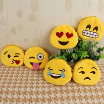10 Piezas Monedero Cartera De Tela Peluche Emoticon Whatsapp