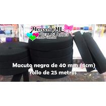 Goma Elastica Macuto Negra 40mm (somos Tienda)