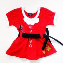 Vestidinho Mamãe Noel (natal) 0 - 3 Anos