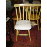 silla comedor madera tapizadas con cuerina