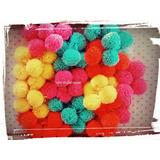 200 Pompones De Lana Colores A Elección 3,5 Cm -