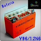 Bateria Gel Yb6l B 12n6 Moto Motoneta Yamaha Bws 125