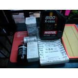 Kit Filtros Aire Aceite Nafta + Motul 8100 Vw Bora 1.8 Turbo