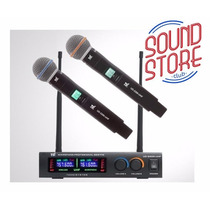 Microfone Tsi Ud2200 S/fio Duplo Mão Digital Uhf Novo Ud2000