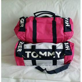 2 Bolsas Tommy Para Viagem Em Lona 1 Grande E 1 Pequena