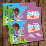 Kit Imprimible Tarjeta De Invitacion Doctora Juguetes