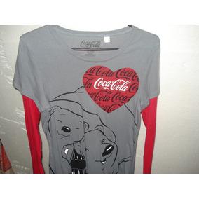 Blusa Dama Manga Larga Unitalla Coca Cola