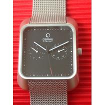 Reloj Obaku Denmark Acero Inoxidable, Semi Nuevo.gran Diseño