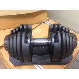 1 Halter Regulável Vermelho 40kg - Dumbell Drumbell Anilhas