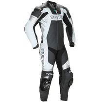 Macacão Tutto Moto Titanium Branco E Prata - 1 Peça - Pista