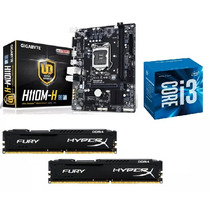 Kit - Mb H110m-h Ddr4+ Proc I3 7100+ 8 Gb (2x4) - Testado
