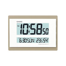 Relogio Casio Id17 Dourado Parede Mesa Humidade Temperatura