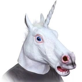Mascara Cabeza Unicornio Harlem Shake Creepy Horse W3009