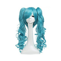 Disfraz Louise Maelys Vocaloid Miku Largo Rizado Peluca De