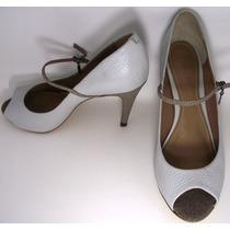 Sapato Feminino Couro Salto Alto Fino Social
