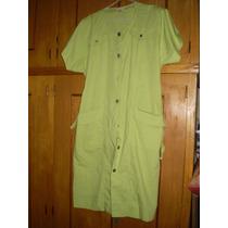 Impecable Vestido Talle 52 Color Verde Agua.