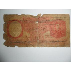 Nota De 10 Pesos Argentino