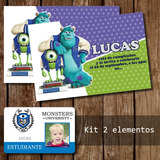 Tarjeta Invitacion Imprimible Monster University Fiesta