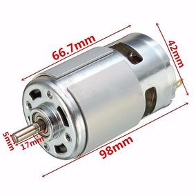 Mini Motor 775- 12 A 24volts 7000 Rpm Alta Torque + Fonte