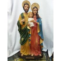 Escultura Imagem Sagrada Familia Em Resina De 42cm