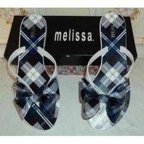 Melissa Harmonic Laço Azul/branco Nova Na Caixa N°36 (424)