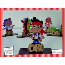 Souvenir Aplique Personaliza Madera 60cm Jake Y Los Piratas