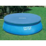 Cobertor 366cm Para Piscinas De Borde Inflable Marca Intex