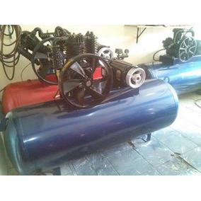 Compresor De 5 Hp Motor De 5 Hp Bifasico Tanque 500 Lts C/fa