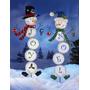 Muñeco De Nieve De La Decoración Del Jardín Estaca Noel