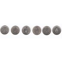 Argentina 1957 / 1960 Lote De 6 Monedas De 1 Peso