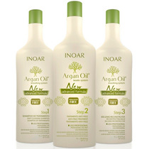 Inoar Argan Oil System New Advanced 3x1000ml # Sem Formol