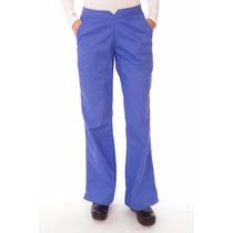 Pantalones Azul Hospitalario Para Mujer Talla Grande