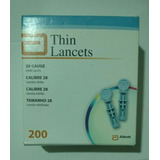 Lanceta Por 200 Aboutt Freestyle, Optium, Xceed Envio Gratis
