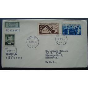 Envelope Tchecoslováquia, 3 Selos 1948,cesko-slovensko P/ Us