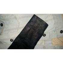 Campera De Jeans Con Mangas De Cuero Ecologico Importada