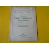Libro Partitura Piano Ricardi Solfeo Folklorico Argentino