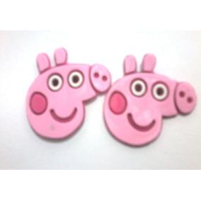 Etiqueta Emborrachada Peppa Pig P/tiras De Chinelos