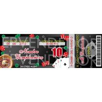 Tarjetas De Invitacion Casino - Epvendedor