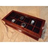 Caja Estuche De Madera Para Guardar Coleccion De 12 Relojes
