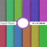Kit Imprimible Pack Fondos Zigzag Multicolor 1 Clipart