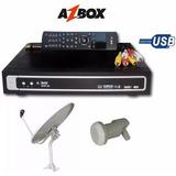 Kit Receptor Satelital Mpeg2 Fta Azbox Evo Xl Antena Y Lnb