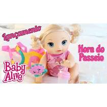 Baby Alive Hora Do Passeio Loira Engatinha Faz Xixi E Fala !