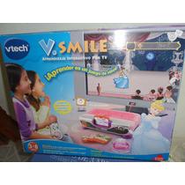 Consola V.tech V.smile Disney Con 4 Cartuchos Adicionales