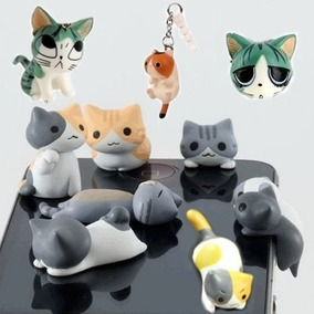 Gato Gatitos Colguijes Celular Plug Antipolvo